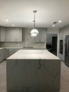 Kitchen Remodeling (white & grey marble) – Miami